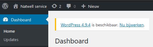 Erjon Webdesign handleiding wordpress versiebeheer
